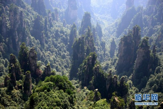 #(美丽中国)(1)航拍世界自然遗产――武陵源风景名胜区