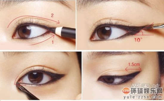 郑秀妍李孝利宝儿 不同眼型的眼线画法图片