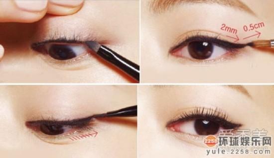 郑秀妍李孝利宝儿 不同眼型的眼线画法