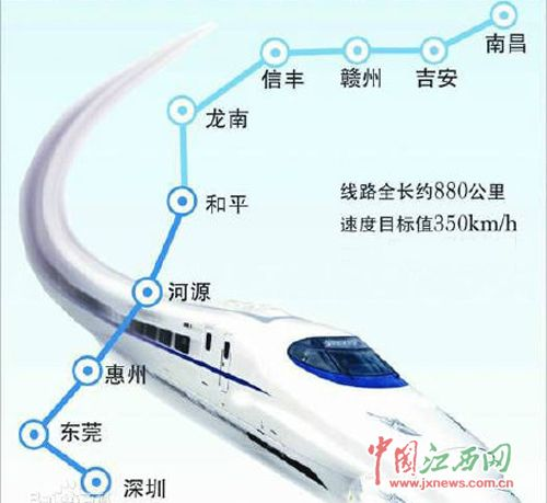 赣深 高铁 初步 线路图