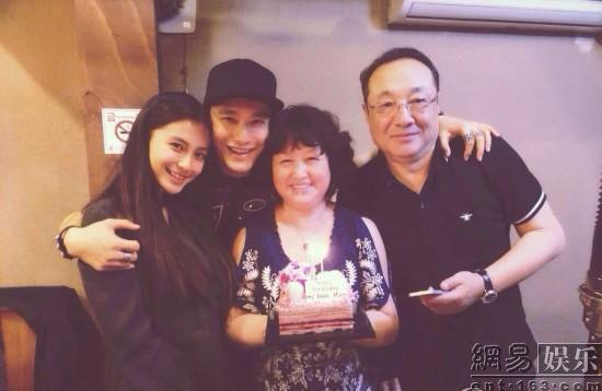 2014年4月 同为黄晓明母亲庆生-黄晓明baby大婚请了半个娱乐圈 多年
