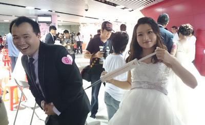 台湾桃园市府办集体婚礼14%新人学生时代就认识