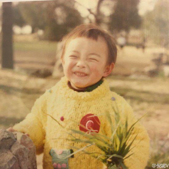 倪妮幼时旧照