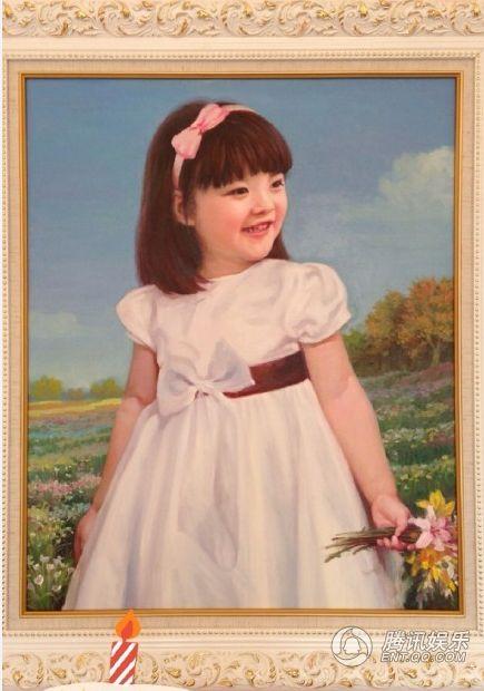 王诗龄过6岁生日 粉丝晒肖像油画见证其成长