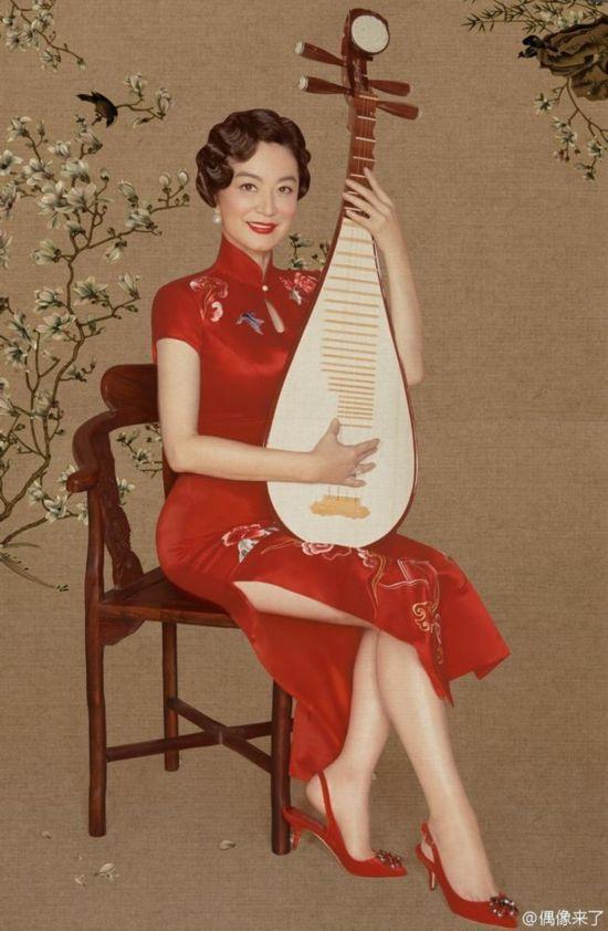 美呆了!《偶像来了》林青霞朱茵等身着旗袍拍复古画报