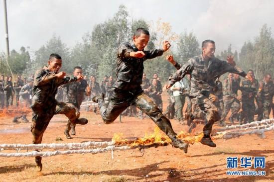 """(军事)(1)""""携手-2015""""中印陆军反恐联合训练进入混编同训阶段"""