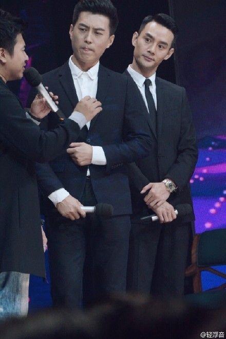 大热国剧演员靳东、王凯于10月17日在湖南卫视录制《天天向上》.-