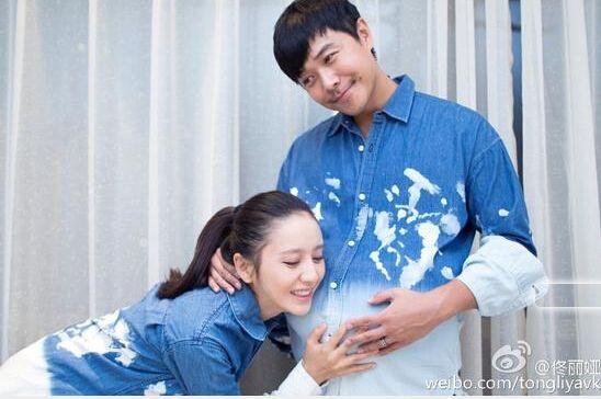 佟丽娅承认怀孕陈思诚搞怪