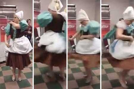 美女学生制灰姑娘长袍 15秒华丽变公主装