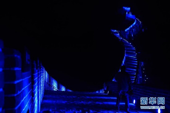 全球地標性建筑亮起藍燈紀念聯合國成立70周年