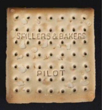 """这块""""泰坦尼克号""""上的百年老饼干被一位希腊收藏家买走。(图片来源:英国媒体)"""