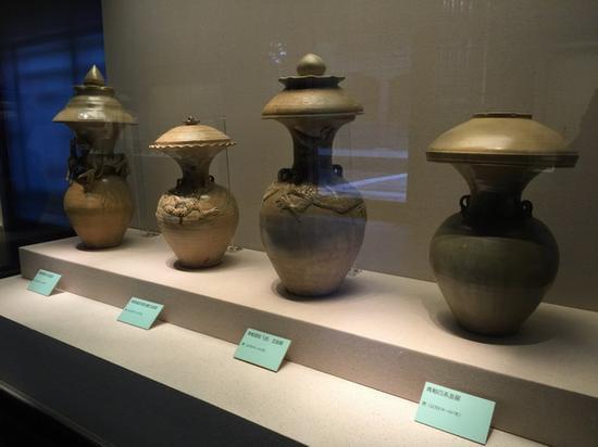 越窑青瓷展品