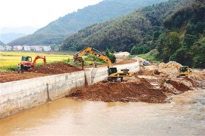 南平建阳小湖防洪堤工程进展顺利 12月底完成主体工程
