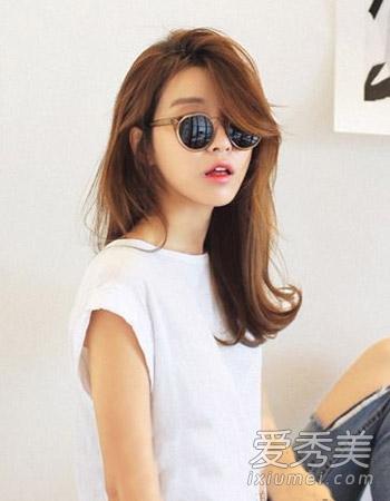 韩版发型女中长发三-天冷最爱还是披肩发 8款中长发清新百搭