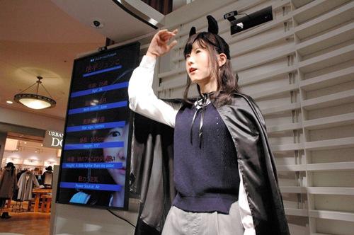 日本美女机器人导游首亮相会中英日三国语(图)