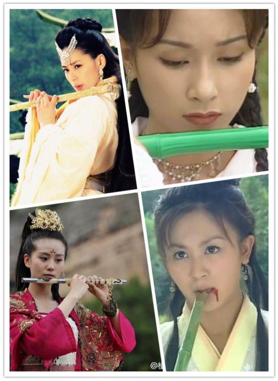 杨幂刘诗诗刘亦菲 古装美女们表情卖萌对比