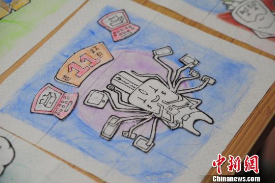 """广州留学生纸巾上画""""双11""""主题漫画走红"""