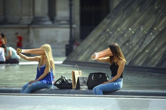"""手机变""""摄魂怪"""" 诡异照片揭示手机上瘾症(组图)"""