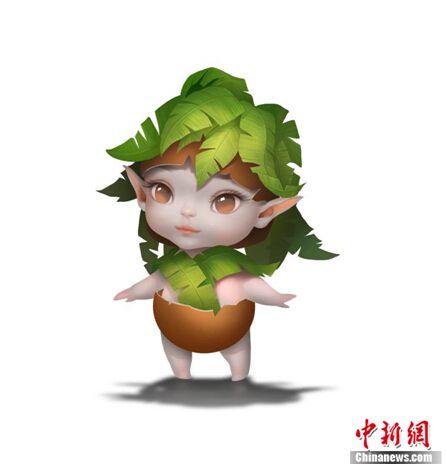 """贾乃亮女儿甜馨献声游戏 变身""""椰子娃娃"""""""
