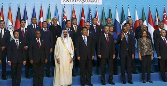 G20峰会领导人合影-习近平 明年G20峰会将于9月4日 5日在杭州举行