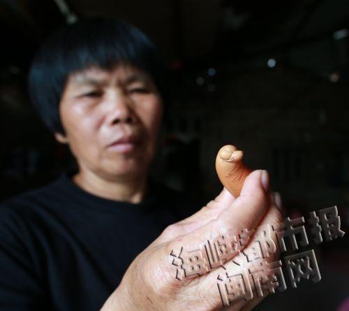 福建一母鸡产下奇特蛋外形细长像侧卧小狗(图)