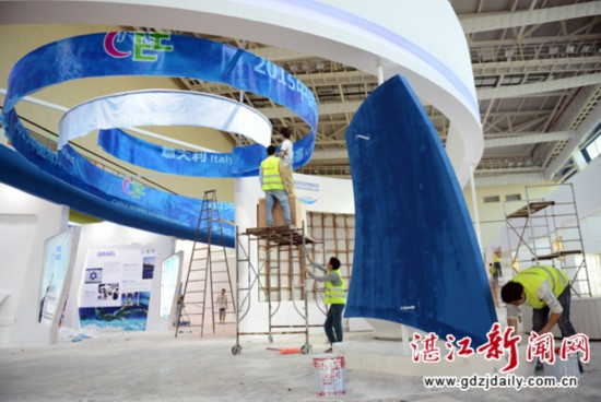 2015中国海博会扮靓布展待客