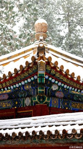 故宫雪景照。图片来源:故宫博物院官方微博