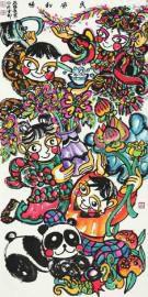 孙博秀芳的年画作品。(图片由受访者提供)