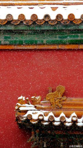 故宫雪景照。图片来源:故宫博物院官方微博故宫雪景照