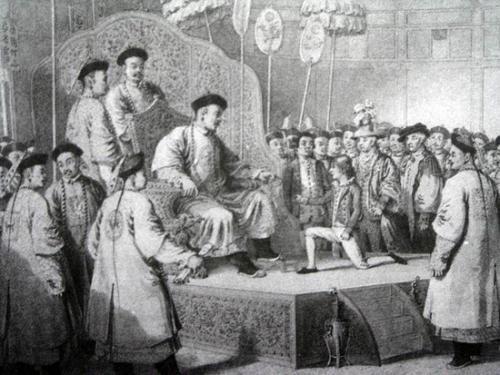 一行人觐见乾隆皇帝-乾隆盛世 贫富差距之大世所罕见