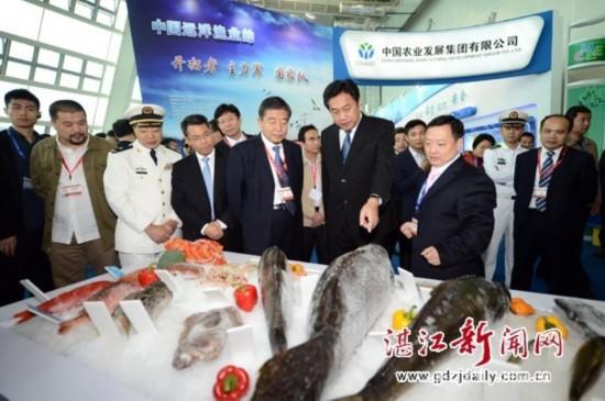 邓海光、张宏声、张兆垠等与会领导嘉宾巡视海博会各展馆