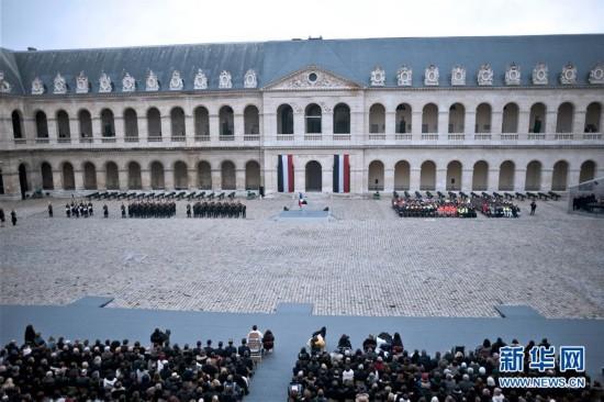 (国际)(1)法国为巴黎恐袭遇难者举行国家悼念仪式