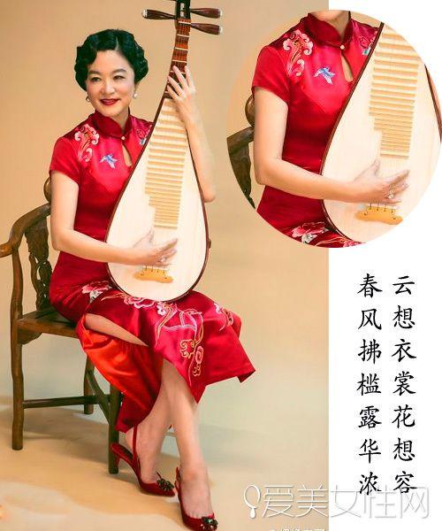 画里走出来的旗袍女星哪个惊艳了你?林青霞蔡少芬古力图片