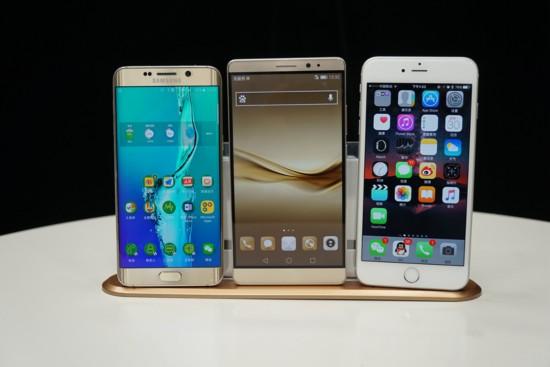 强!华为Mate8对比三星S6\/iPhone6S