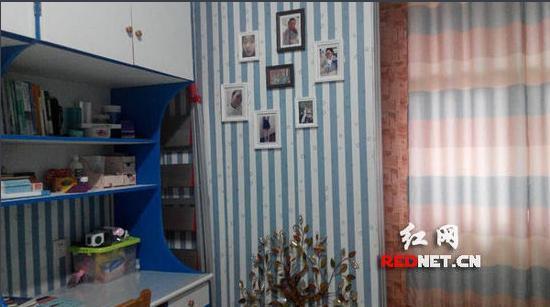 """长沙理工大学外国语学院一女生寝室被装饰成了蓝白相间的""""地中海风图片"""