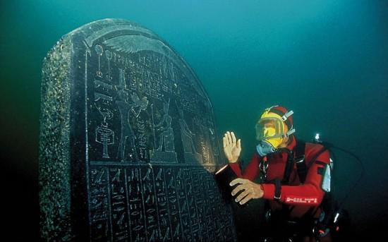 水中沉睡千年 埃及古城珍宝重现天日