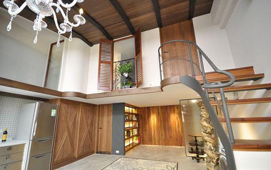 南京复式小户型_53平挑高小户型 把小复式装成大别墅