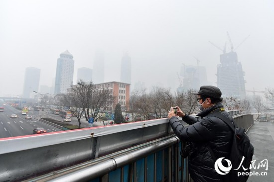 北京首次啟動空氣重污染紅色預警