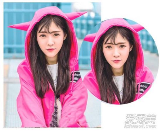 空气刘海+中长发 这才是今年最流行女生发型图片