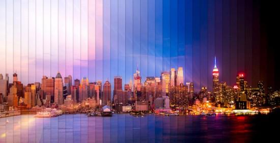 美摄影师用时间切片展现城市日夜变幻之美 组图