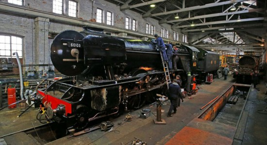 英92岁老式蒸汽机车将重新投入使用