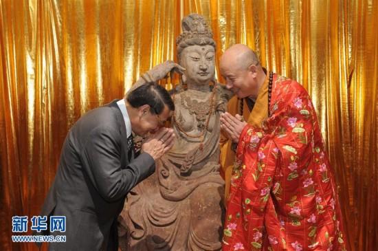 (晚报)(1)千年观音雕像回归祖国
