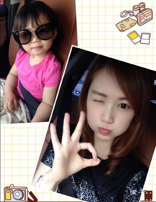 王宝强的娇妻马蓉与女儿,2011年,马蓉在美国洛杉矶为王宝强产下小