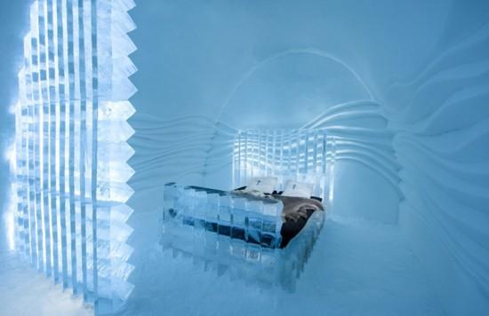 瑞典纯冰雕旅馆开张 令人惊叹