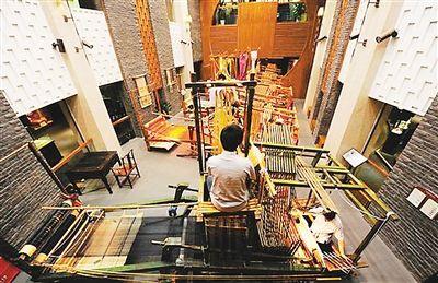 天工开物造蜀锦——蜀锦的花楼木织机和织造技艺图片