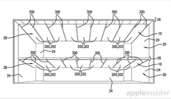 这套系统描述了一种室内照明设施,天花板照明面板是从一面墙到达另