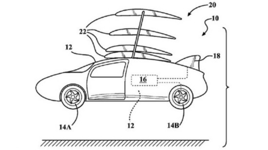 丰田申请可折叠机翼专利 或研发飞行汽车