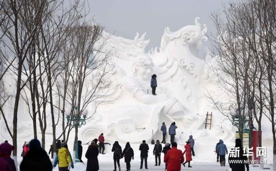 """太阳岛雪博会献上""""最美雪世界""""(图)"""