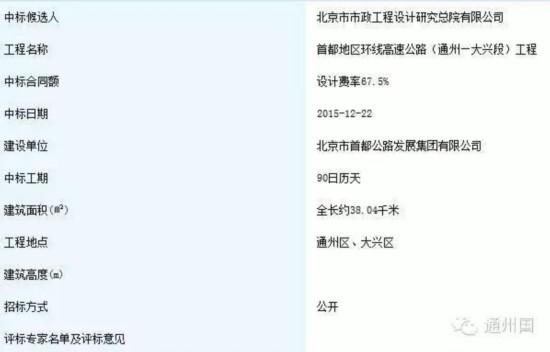 """北京""""七环路""""将开修,通州"""
