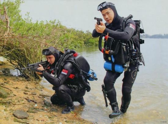 中国海军蛙人渗透演练,使用水下枪械-中国明星武器 新坦克沙漠狂飙 图片